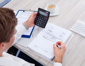 Businessman Using Calculator — Stock Photo