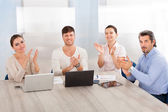 Business Group Applauding — Stok fotoğraf