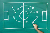 Game strategy on blackboard — Foto Stock
