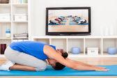 Female Doing Fitness Exercise — Foto de Stock