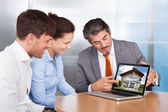 Couple And Consultant Discussing Together — Stock Photo