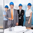 Portrait Of Happy Architects — Stock Photo