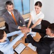 Stock Photo: Businesspeople Stacking Their Hands