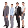 Businesspeople Standing In A Row — Stock Photo