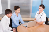 Female Doctor Explaining To Woman — Stock Photo