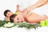 Happy Couple Getting Spa Treatment — Stock Photo