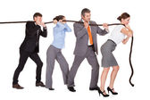 Businesspeople Pulling Rope — Stock Photo