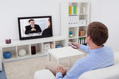 Man Watching Television — Foto de Stock