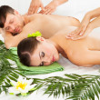 Happy Couple Getting Spa Treatment — Stock Photo