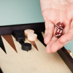 Person Playing Backgammon — Stock Photo