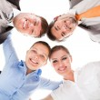 Huddle Of Happy Businesspeople — 图库照片