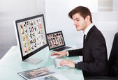 Professional Businessman At Work — Stock Photo