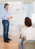 Business Lecture At Conference — Stock Photo