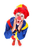 Portrait Of A Shocked Clown — Stockfoto