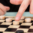 Stock Photo: BusinessmPlaying Checkers