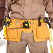 Toolbelt of a worker — Stock Photo