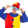 Joker With Big Eyeglasses — Stock Photo #36129275