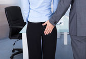 Businessman Flirting Businesswoman — Stock Photo