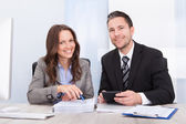 Businesspeople Calculating Finance — Stock Photo