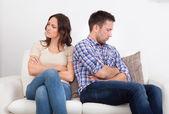 Displeased Couple — Stock Photo