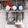 Utensils In Dishwasher — Stock Photo