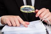 Businessman Analyzing Document — Stock Photo