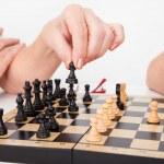 Senior Couple Playing Chess — Stock Photo #38713323