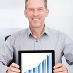 gráfico mostrando de negócios — Foto Stock