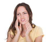 Young Woman Suffering From Toothache — Foto de Stock