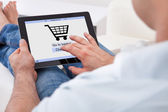 Man Shopping Online — Stock Photo