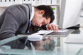 Tired Young Businessman — Stock Photo