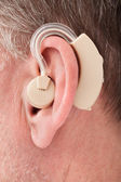 Person Wearing Hearing Aid — Stock Photo