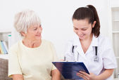 Happy Doctor And Patient — Stock Photo