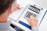 Businessman Calculating Finance — Stock Photo