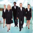 Stock Photo: Multi-racial Group Of Business People