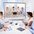 Businesspeople Attending Video Conference — Stock Photo #39130551