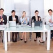 Businesspeople Clapping In Conference — Stock Photo