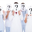 Group Of Doctors With Question Mark Sign — Stock Photo #39131343