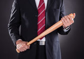 Businessman Holding Baseball Bat — Stock Photo