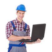 Architect Using Laptop — Stock Photo