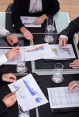 Group Of Businesspeople Discussing Plan In Office — Stock Photo