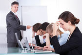 Bored Employees In Business Meeting — Stock Photo