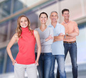 Four business associates in casual clothes — Stock Photo