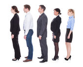 Business People In A Line — Stock Photo