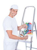 Painter With Swatch Book — Stock Photo