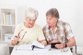 Senior Couple Doing Their Finances — Stock Photo
