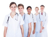 Doctors And Nurses In A Row — Stock Photo