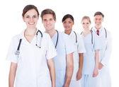 Doctors And Nurses In A Row — Stok fotoğraf