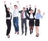 Group Of Businesspeople Raising Hands — Stock Photo