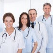 Group Of Doctor Standing In A Row — Stock Photo